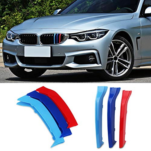 Inserts Series Grill - VANJING M-Colored Stripe Grille Insert Trims for BMW F32 F33 2013-2018 4 Series (Only Fit 9 Beams) Kidney Grills ...