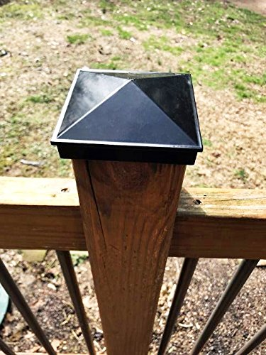 Mailbox 3 1//2 Deck Piling Caps WeatherPRO Post Caps Dock Lamp Post Single Pack Black Powder Coated Aluminum 4x4 Fence Post Cap