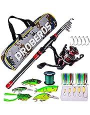 1.8m-3.6m Fishing Rod Spinning Reel Fishing Reel Hard Soft Lure Line Bag Sets Kit Portable Fishing Set for Travel Fishing
