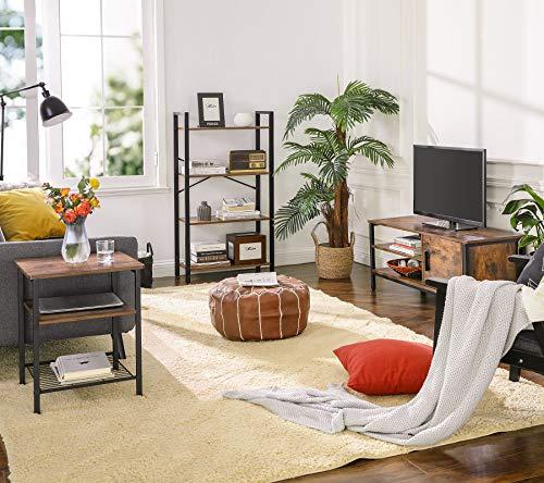 VASAGLE Meuble TV pour Télévision Jusqu'à 48 Pouces, Support TV, avec Placard et 2 Compartiments Ouverts, pour Salon…