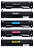 5/Pack CF400X BBCMY Combo Toner Cartridge for HP Compatible with: LaserJet Pro M252dw MFP M277c6 M277dw