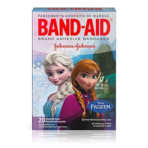 Band-Aid Brand Adhesive Bandages for Minor Cuts and Scrapes, Featuring Disney Frozen Characters, Assorted Sizes 20 ct by Band-Aid (Image #1)