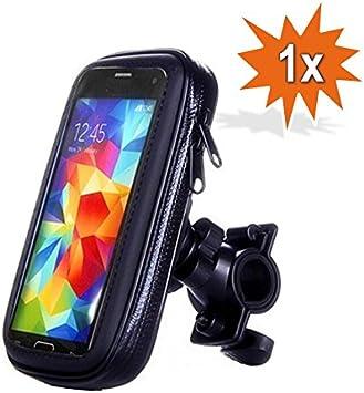 Do!LED 360 ° universal Smartphone Teléfono Móvil Navi Fahrradhalterung soporte con estanco Schutzhülle Bolsa bicicleta moto Mountain Bike manillar: Amazon.es: Deportes y aire libre