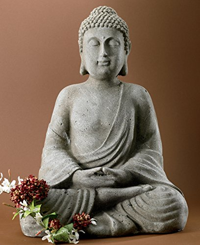 "KINDWER Serene Meditating Buddha Statue, 20"" Tall"