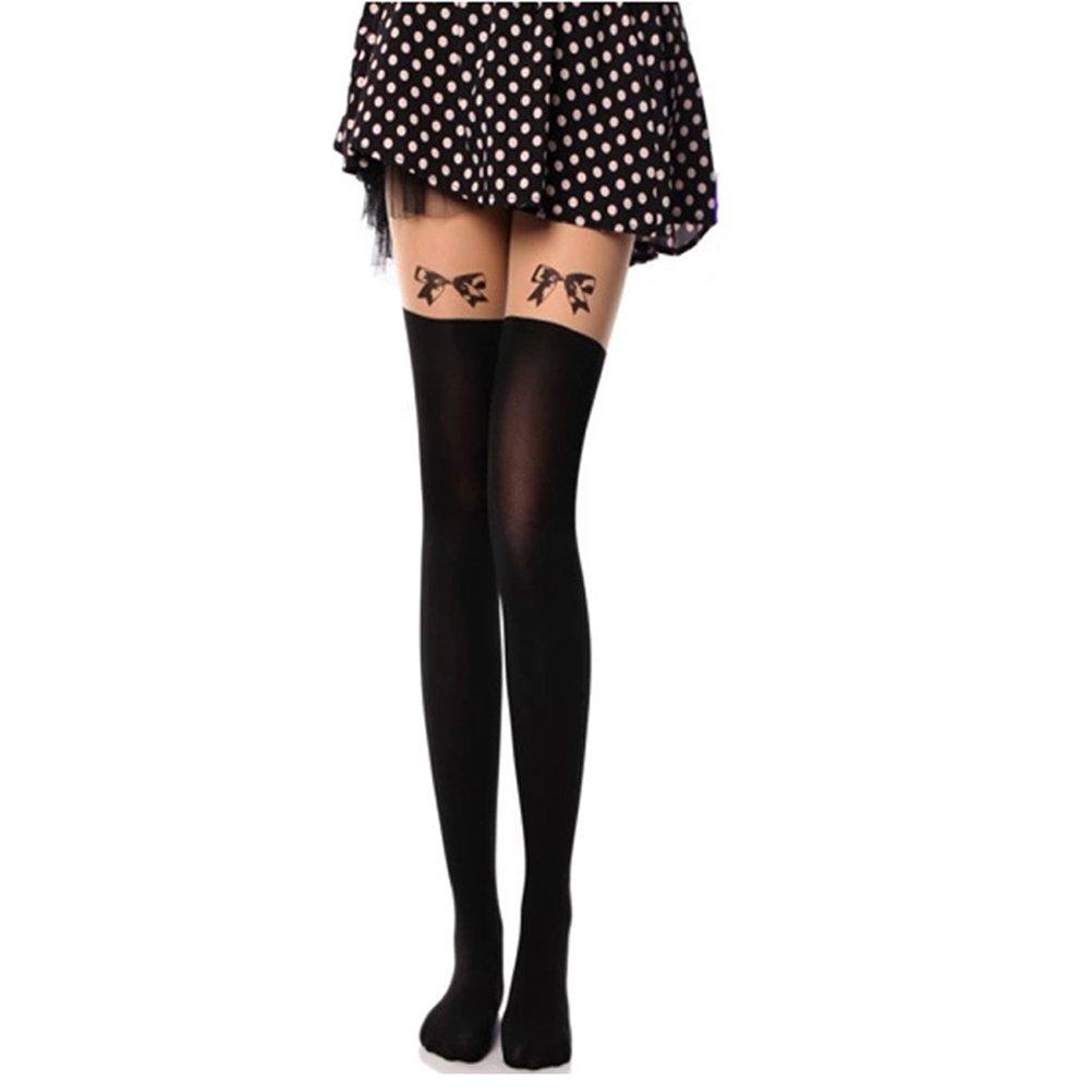 laixing Deft diseño calcetines para mujer lazo dibujos animados ...