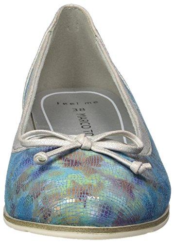 Marco Tozzi Premio 22108, Bailarinas para Mujer Turquesa (Turquoise Mult 751)