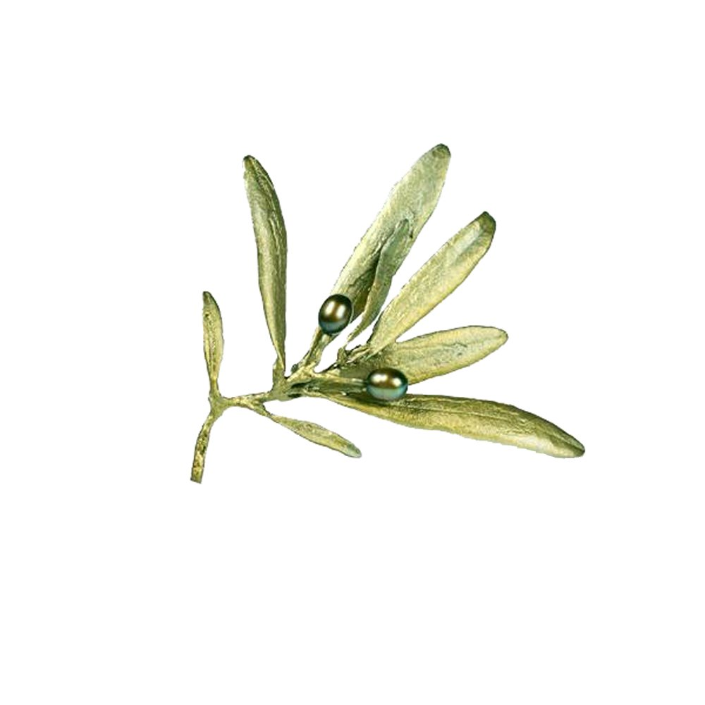 ''Olive'' Pin/Brooch by Michael Michaud for Silver Seasons…