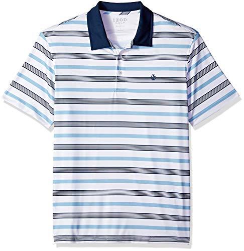 IZOD Men's Performance Golf Polo, Bright White, Large ()