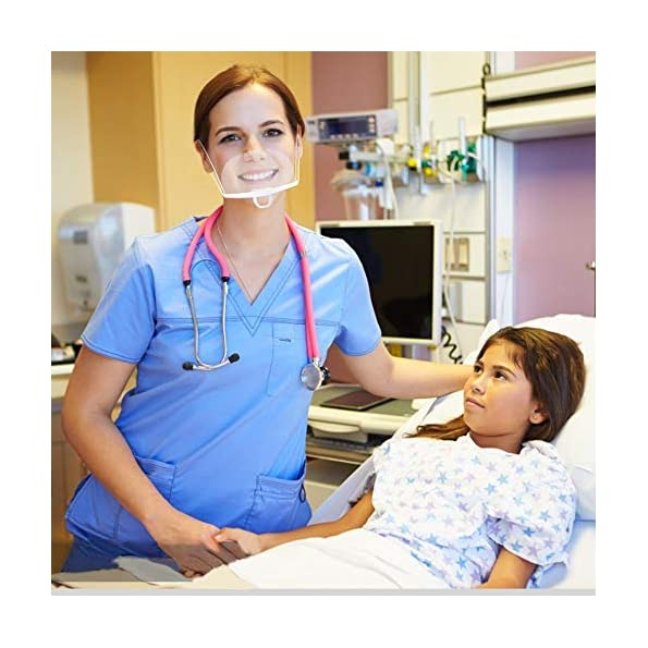 5-Stck-Schutzschild-Mund-Gesichtsschutz-aus-Kunststoff-Gesichtsschild-Schutzvisier-Visier-Anti-Saliva