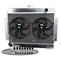 "Title: Aluminum Radiator +2x 10"" Fan Application: For 72-86 JEEP CJ CJ5-CJ7 3.8-5.0 MT Color: Silver Description: This Aluminum Radiator is designed to provide maximum cooling efficiency to prevent premature engine failure. Its light-weight, ..."