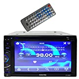 Audiotek - AT-63BT- 6.5'' Double-Din AM/FM/MP3/MP4 Playable w/ Bluetooth/USB/AUX/SD/DVD/CD Touchscreen Car Media Player Receiver System