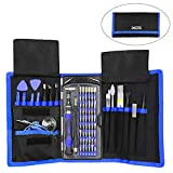 XOOL Precision Screwdriver Set, 80 in 1 Magnetic Repair Tool Kit, Screwdriver Kit with Portable Bag for iPhone, iPad, MacBook, Gaming Console, Controller