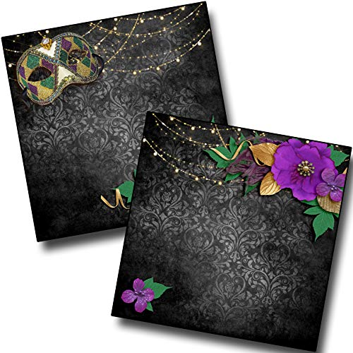 NOLA Nights NPM - Mardi Gras - Premade Scrapbook Pages - EZ Layout 3937