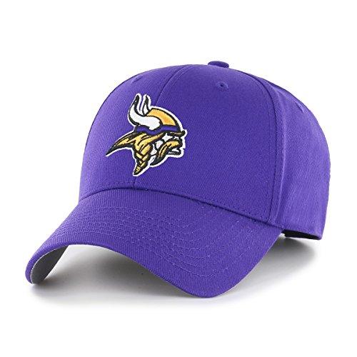 Minnesota Vikings Cap (OTS NFL Minnesota Vikings All-Star MVP Adjustable Hat, Purple, One Size)