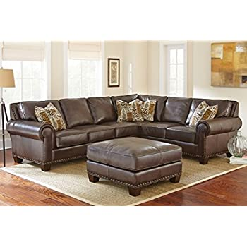 Steve Silver Company Escher Sectional Sofa With Ottoman