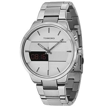 RLUJIUQM Ultrafino Reloj analógico-Digital Pantalla Doble y ...