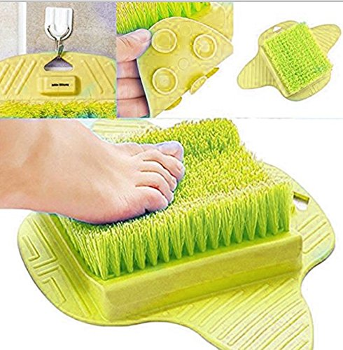 Jaxbo Shower Foot Scrubber Brush with Suction Cups for Deep Clean Scrubber Massager (Green) by Jaxbo (Image #3)