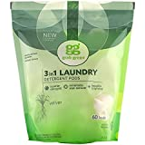 Grab Green Naturally-Derived, Plant & Mineral-Based Laundry Detergent Pods, Vetiver, 60 Loads