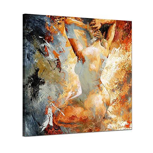 Pintura Al oLeo Pintada A Mano Cuadros Abstractos Modernos Mujer Sobre Lienzo Arte Sala De Estar Dormitorio DecoracioN Para El Hogar,canvas,80×80cm