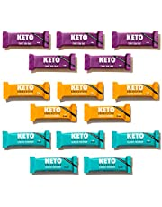 Keto Collective Wholefood Keto Bars I 15x40g I 2-4g Net Carbs I Low carb I High Fibre I Natural Ingredients I Source of Protein I Perfect Fuel for a Keto Lifestyle I Gluten Free I Vegan