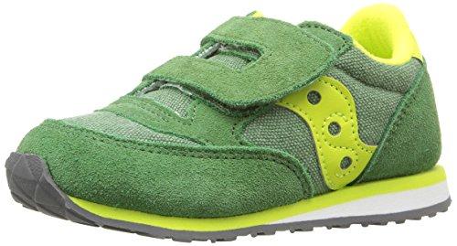 Saucony Jazz Hook & Loop Sneaker (Toddler/Little Kid), Green/Yellow, 11.5 M US Little Kid