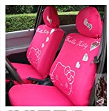 Cartoon Women Lady Five Seats Car Seat Cover 10pcs Auto Car Cushion Front Driver Saddle Seat Cover Car Seat Cushion Supplies (color5)