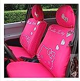 Cartoon Women Lady Five Seats Car Seat Cover 10pcs Auto Car Cushion Front Driver Saddle Seat Cover Car Seat Cushion Supplies (color5)