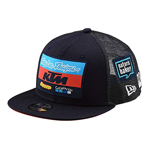 Troy Lee Designs 2019 Official Team KTM Youth Kids Flat Bill Snapback Hat (One Size, Navy)
