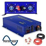 3000 Watt Pure Sine Wave Inverter 24V DC to 120V AC, 3000W Power Invert Surge 6000W Power Converter for Solar System. (3000W 24V 120V)