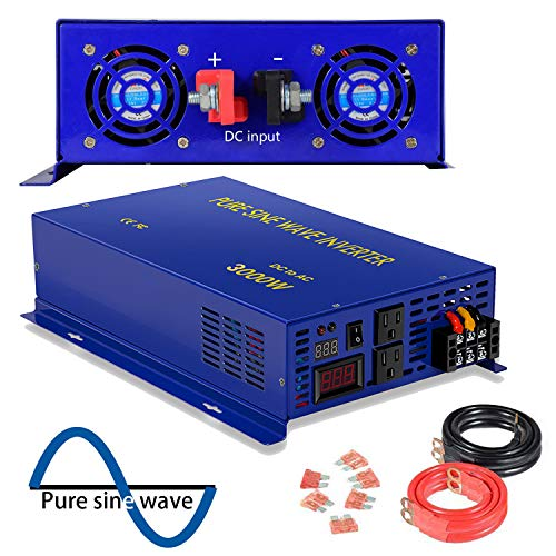 XYZ INVT 3000 Watt Pure Sine Wave Inverter 36V DC to 120V AC, 3000W Power Invert Surge 6000W Power Converter for Solar System.(3000W 36V DC to 120V AC)…