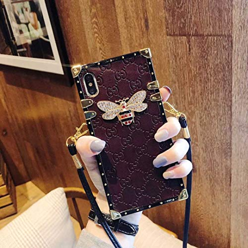 Case for iPhone XR, Trunk Case with Lanyard New Classic Luxury Style Fashion PU Leather Protective Deliver Guarantee Fulfilled by Amazon Case Cover for Apple iPhone XR