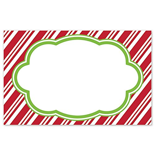- Candy Cane Stripes Enclosure Cards / Gift Tags - 3 1/2 x 2 1/4 (50)