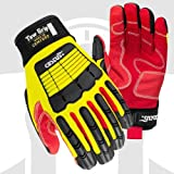 Cestus 3094 3XL Tow Grip Short Cuff Cotton Palm Impact One Pair Glove, Yellow - 3 Extra Large