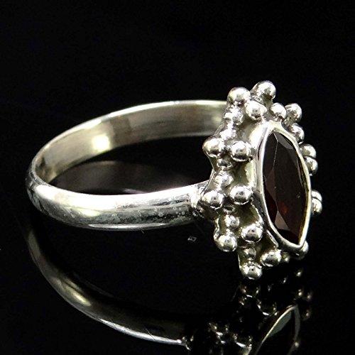 Banithani 925 Pure Silver Exclusive Bague Grenat Pierre Mode cadeau Bijoux pour les femmes