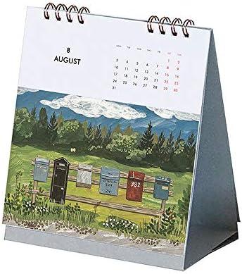 Y-RD 2020 Scenes Tischkalender, Tischkalender Hand gerissen Umblättern kreative Tischkalender Reisekalender Jahreskalender Studien- und Lebensplanung