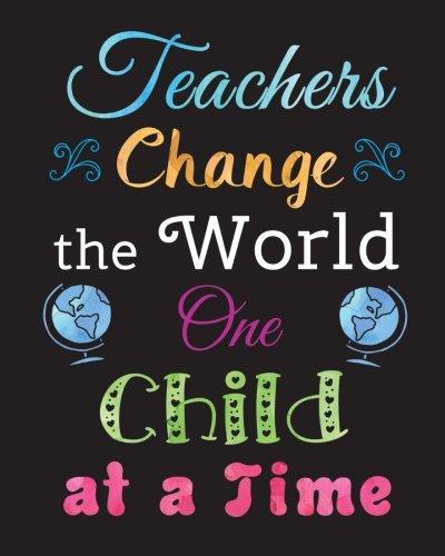 Student Thanking Teacher Quotes: Teacher Gift Notebook Inspirational Quote Journal Teachers