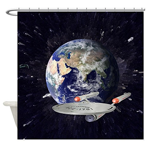 nuohaoshangmao Star Trek Enterprise - Decorative Fabric Shower Curtain (Star Trek Curtain)