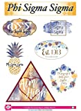 Phi Sigma Sigma - Sticker Sheet - Watercolor Theme