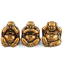 Feng Shui Buddhas - See No Evil,hear No Evil,tell No Evil Brown Resin Figurine27698