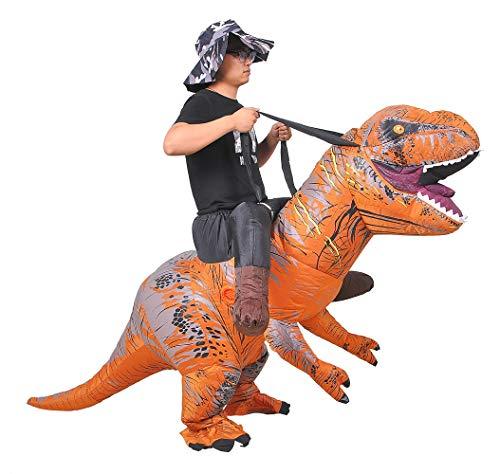 JASHKE Tyrannosaurus Inflatable Costume Dinosaur Clothes Fun Dresses (Montar en t-Rex)