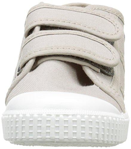 Gris Victoria 80 Dos Sneaker Lona Bambini Basket Unisex Beige Velcros PPx0qwUZ