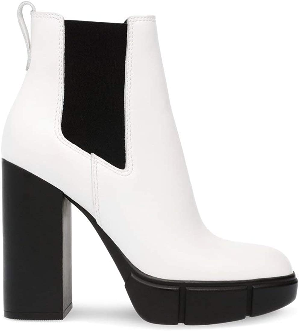 steve madden white leather boots