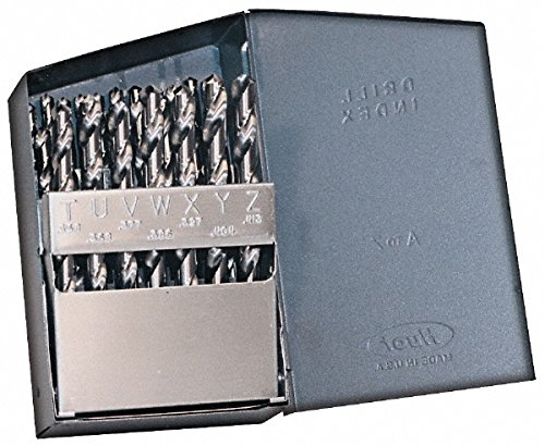 Made in USA - Size A to Z, 118¡ã; Point, Bright Finish, High Speed Steel Drill Bit Set 1176262