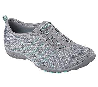 Skechers Breathe Easy-Just Chillin Gray Womens Fashion Sneaker Size 6M (B06WWJC92L) | Amazon price tracker / tracking, Amazon price history charts, Amazon price watches, Amazon price drop alerts