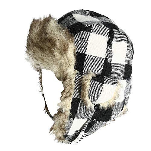 Polar Extreme Wool Blend Buffalo Plaid Aviator Hat 02b56035a9e1