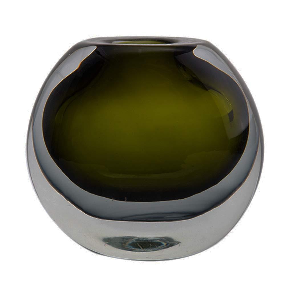 フラワーベース花器 花瓶シンプルモダン丸型ガラス装飾モデルルームクラフト生活雑貨リビングルーム装飾 (Color : Green, Size : 14*8*13cm) B07S9V3G6D Green 14*8*13cm