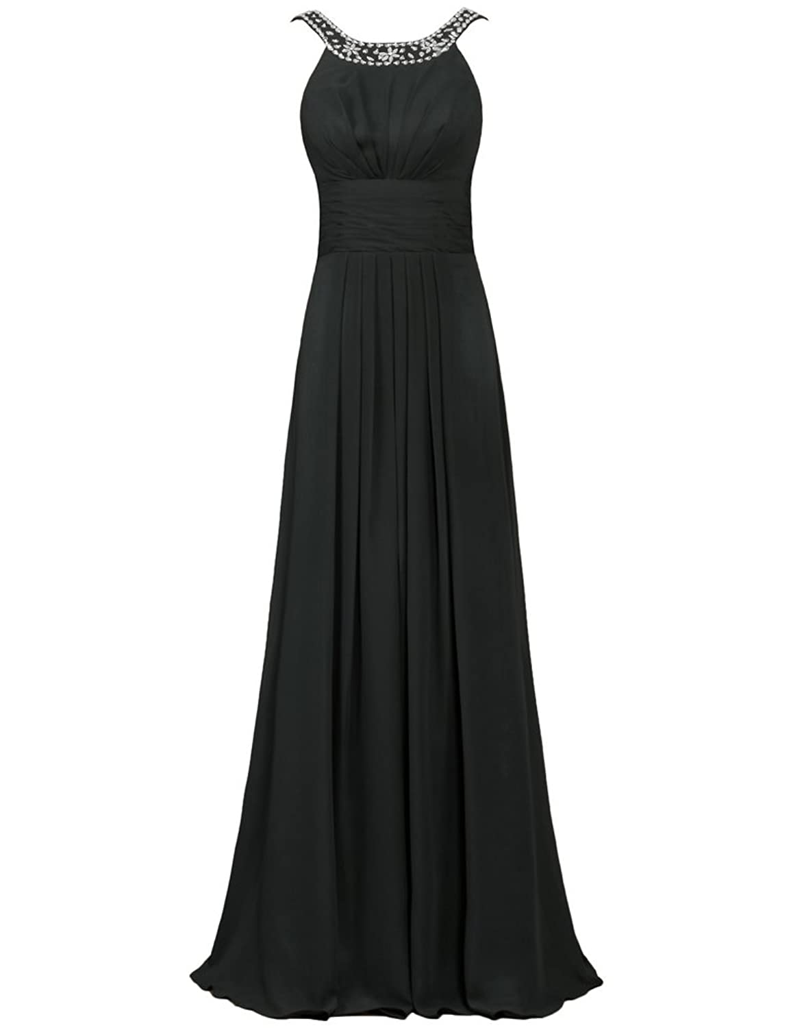 0840f26502c A Line floor length long dress with bead boat neckline. Full Lined with  bone