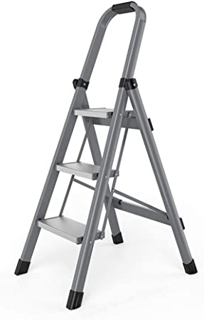 C-J-Xin Escalera de ingeniería de Cinco Pasos, Escalera Plegable de Tres Pasos de Metal Escalera multifunción de casa Escalera portátil de Cuatro Pasos Escalera de casa: Amazon.es: Hogar