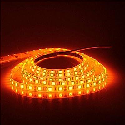 Apatner 16.4ft SMD5050 Orange Flexible LED Strip Lights, 5M 300 LEDs ribbon Led Light Lamp, Waterproof, DC12V For XMAS