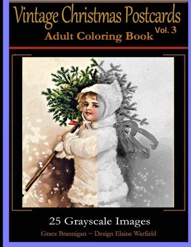Vintage Christmas Postcards Adult Coloring